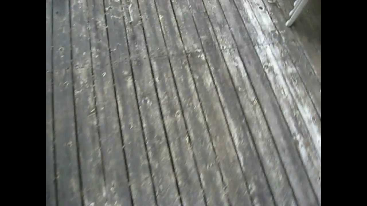 My Cedar Deck Before Restoration Youtube