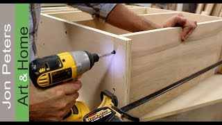 How To Make A Desk For An Office / Art Studio Part 3 By Jon Peters
