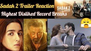 Sadak 2 Trailer Reaction   Most Disliked Trailer !!!!