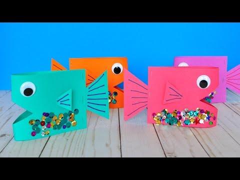 Cute Paper Fish Craft DIY Crafts