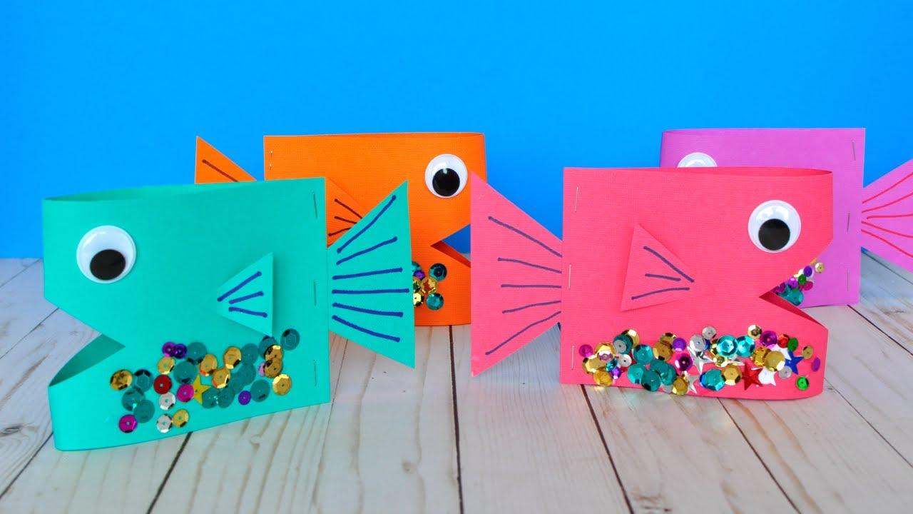 Cute Paper Fish Craft Diy Crafts Youtube