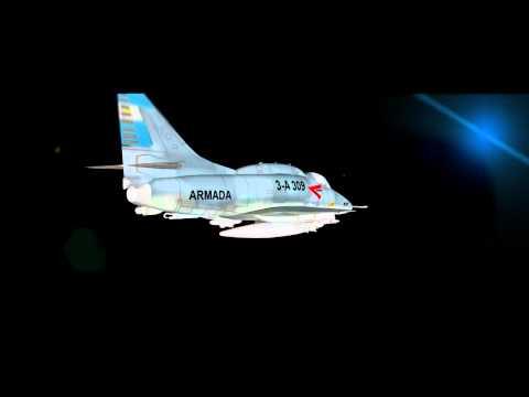 A4 skyhawk Caza y Ataque (ARGENTINA) Cinema 4D