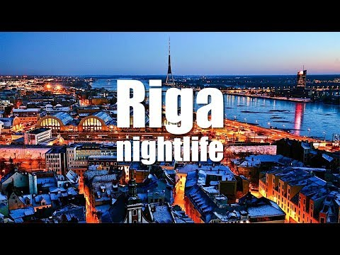 Riga nightlife - Riga fiestas nocturnas. Latvia - Letonia. HD