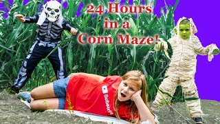 Assistant spends 24 hours in Spooky Corn Maze With Batboy Ryan