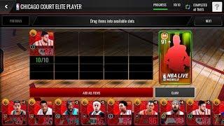 5x CHICAGO ELITE PLAYER PACKS! BACK 2 BACK 94 OVR PULLS!!! NBA LIVE MOBILE