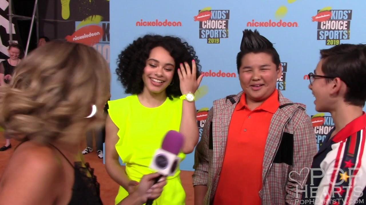 Nickelodeon All That Cast Interview Gabrielle Neveah Green Nathan Janak Chinguun Sergelen