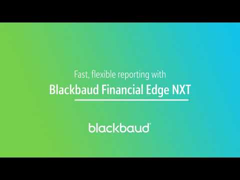 Blackbaud Financial Edge NXT In a Flash: Reporting