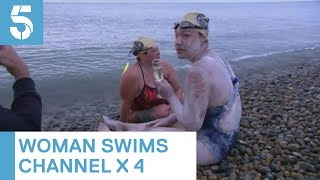 Sarah Thomas: cancer survivor becomes first to swim Channel four times non-stop | 5 News