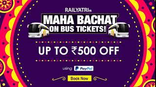 Grab MEGA discounts on bus bookings with RailYatri