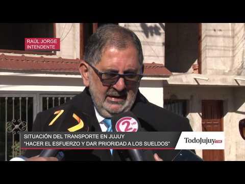 Raúl Jorge: Los empresarios del transporte tienen que dar prioridad al pago de salarios