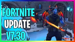 🔴 *NEW* FORTNITE UPDATE V7.30 MAP CHANGES, SNOWFALL SKIN & MORE COME JOIN IN