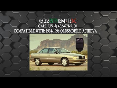 How To Replace Oldsmobile Achieva Key Fob Battery 1994 1995 1996
