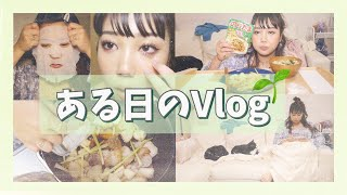 一人暮らしのある日のVlog/簡単夜ごはん, スキンケア