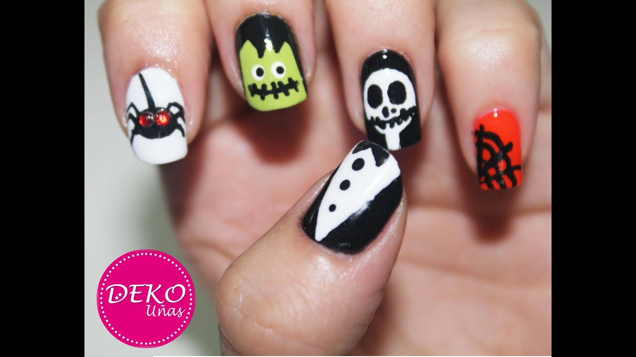 Decoracion de u as halloween nail art halloween youtube for Decoracion de halloween