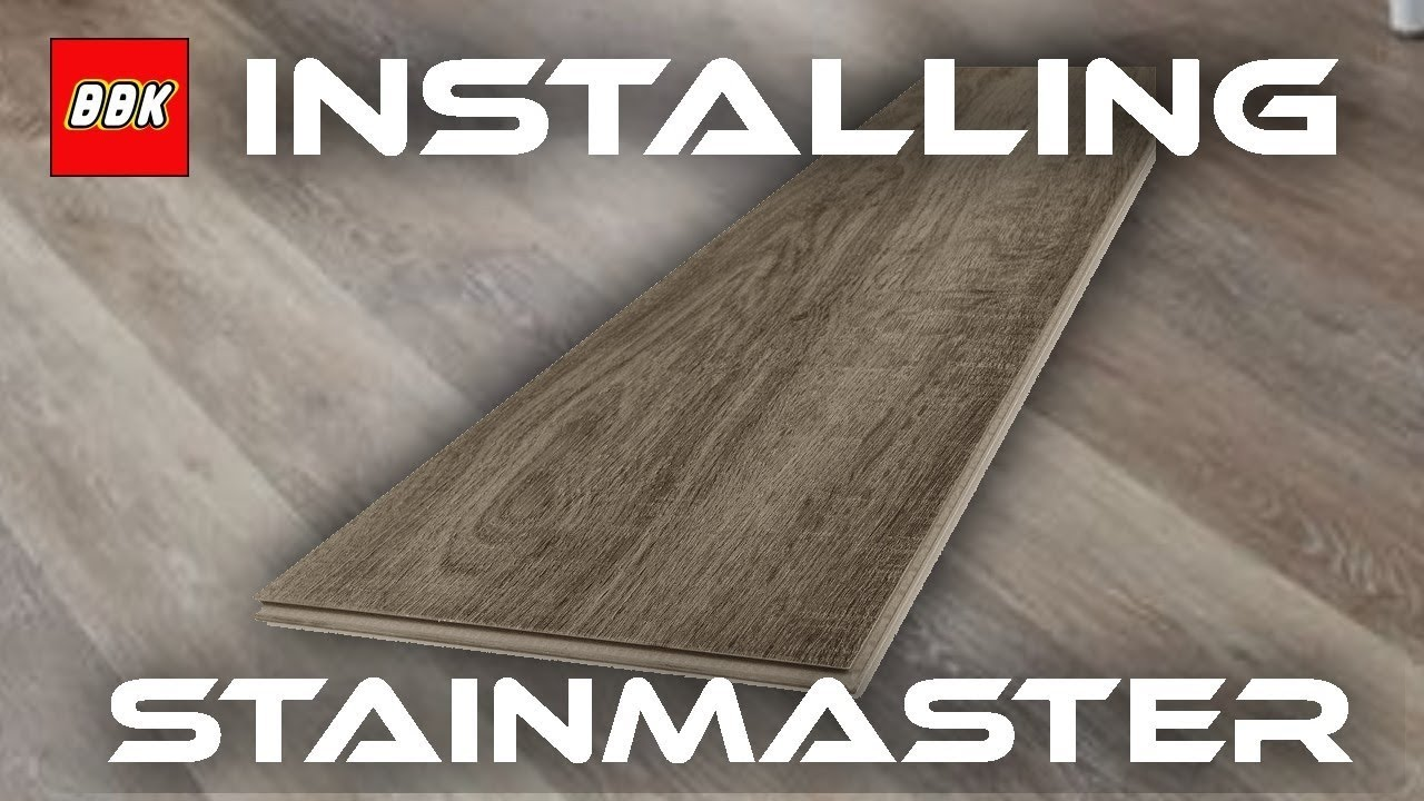 Installing Stainmaster Washed Oak Locking Luxury Floor And Review Bathroom
