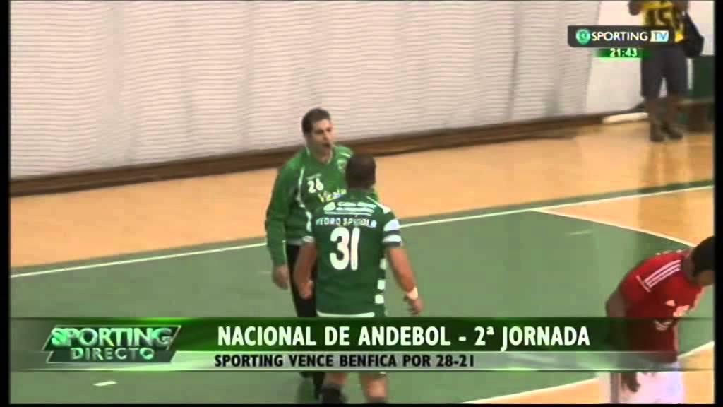 Andebol :: 02J :: Sporting - 28 x Benfica - 21 de 2014/2015
