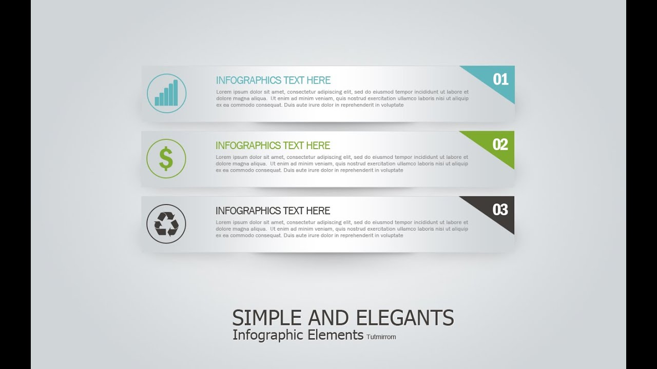 Photoshop Tutorial Graphic Design | Infographic Simple And ...