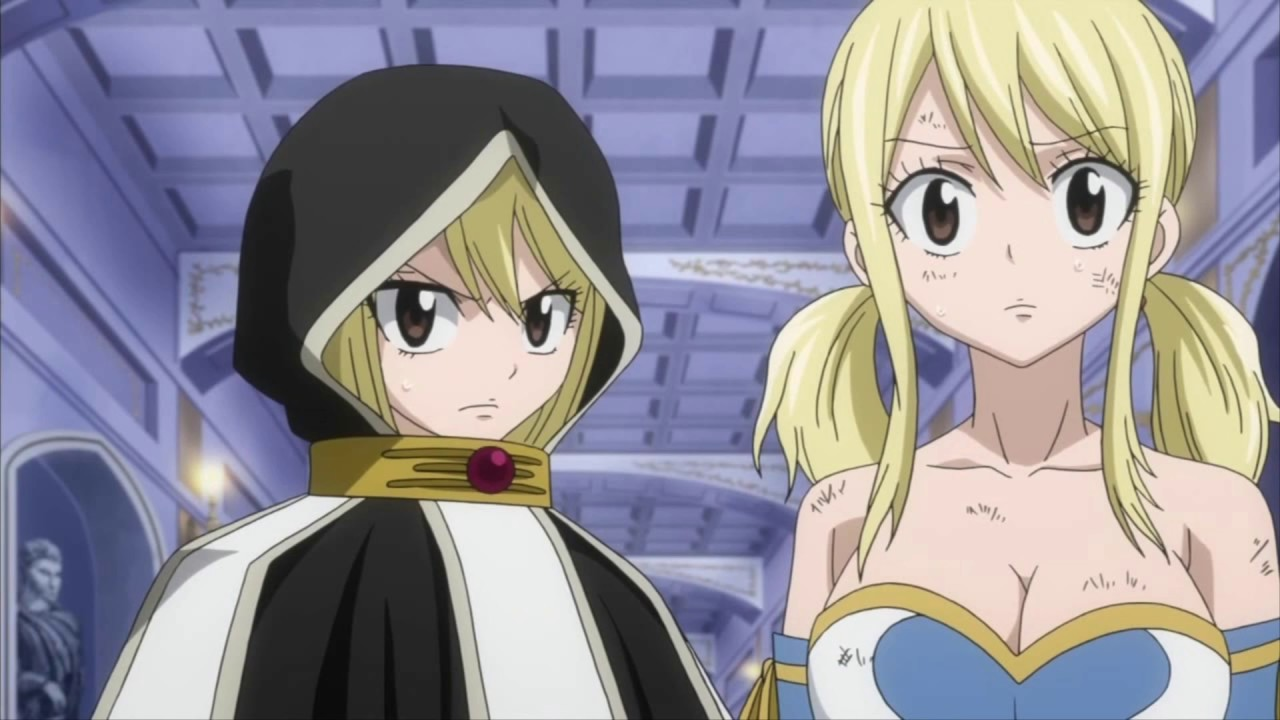 fairy tail - lucy heartfilia and her future counterpart sing