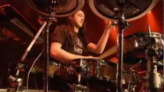 #12 Jacob Randall from New Zealand; V-Drums World Championship 2012