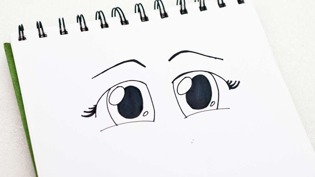 How To Easily Draw A Pair Of Cute Anime Chibi Eyes Diy Crafts