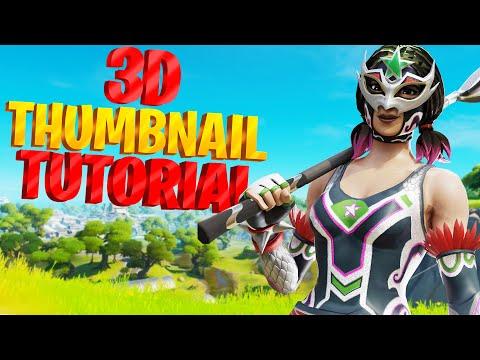 How To Make 3D Fortnite Thumbnails (Full Tutorial)