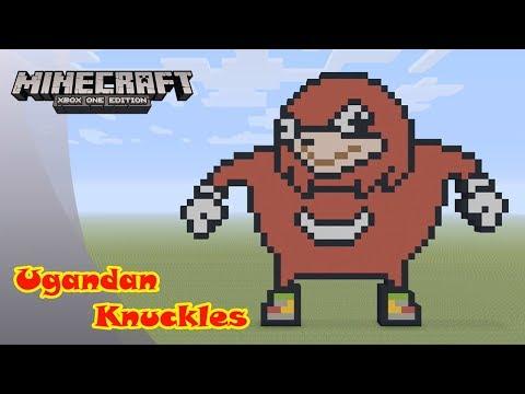 Minecraft: Pixel Art Tutorial and Showcase: Ugandan Knuckles