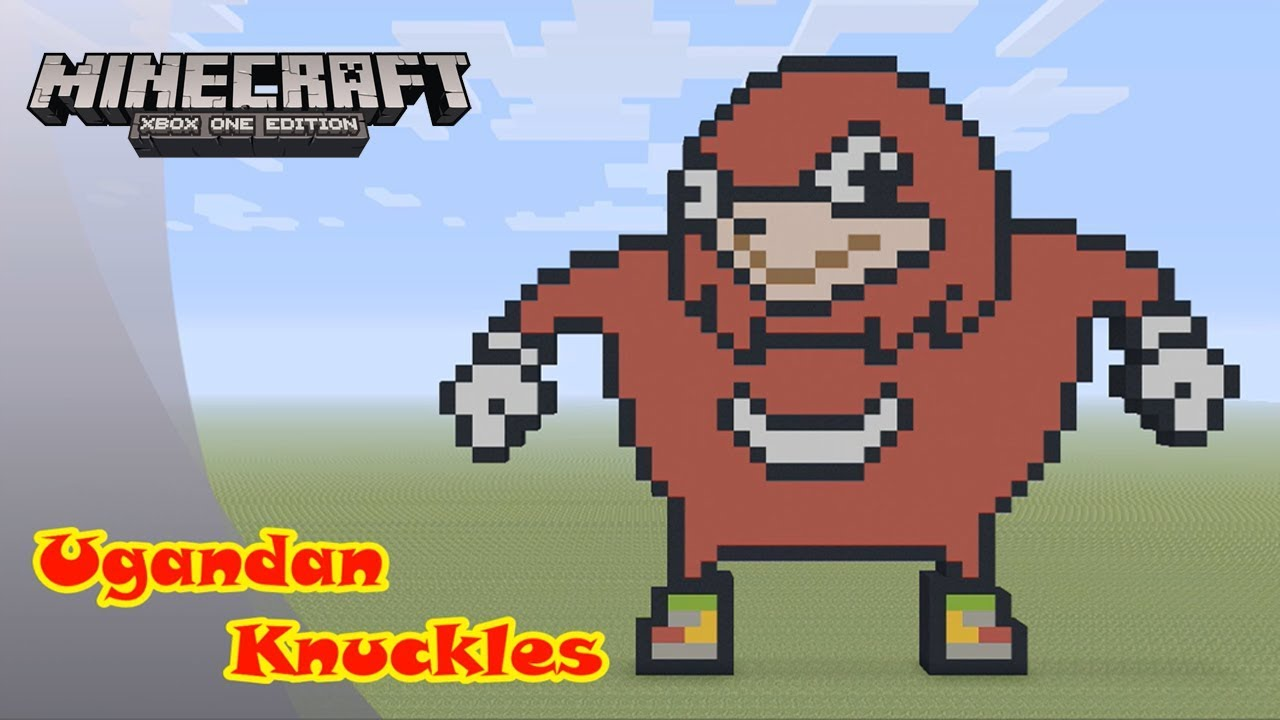 Minecraft Pixel Art Tutorial And Showcase Ugandan Knuckles Youtube