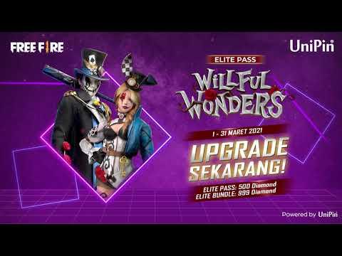 Free Fire Elite Pass Willful Wonders, dapatkan hanya di UniPin!