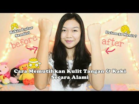Memutihkan Kulit Tangan & Kaki Dengan Alami || Desty Yufenti