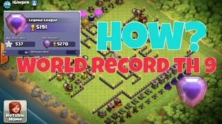 Clash of Clans | NUMBER 1 RANKED TOWN HALL 9 IN THE WORLD | WORLD RECORD TOWN HALL 9 PLAYER