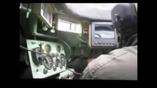 Driving a M113 Armored Personnel Carrier