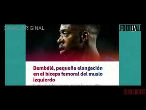 El FC Barcelona confirma la lesión de Ousmane Dembélé