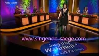 Säg die Wahrheit - Katharina Micada - Singende Säge (Musik ab 9'30)