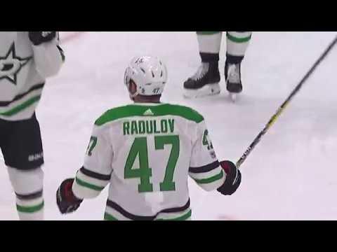 Alex Radulov cranks one timer for PPG vs Oilers (2017)