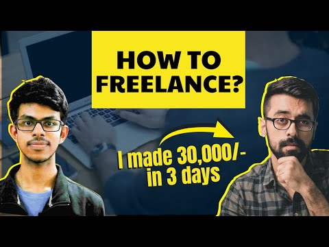 How to Freelance, Step by Step process to earn money at home? @Curious Harish