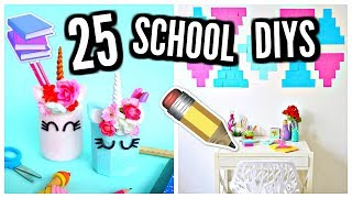 25 DIY SCHOOL SUPPLIES & Room Decor! 2017-2018