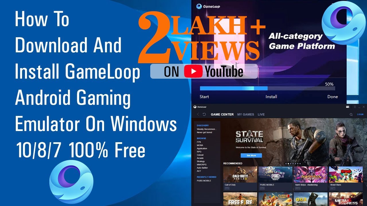 ✅ How To Download And Install GameLoop Android Gaming Emulator On Windows 10/8/7 100% Free (2020)
