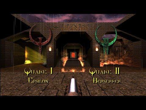 QUAKE AND QUAKE 2 HD (enhanced graphics mods Quake Epsilon and Quake 2 Berserker)