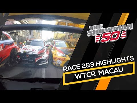 WTCR Macau race 2 and 3 highlights with Tom Coronel in the Cupra TCR