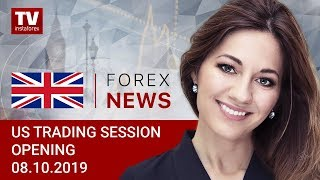 InstaForex tv news: 08.10.2019: USD on back foot ahead of US – China trade talks (USDХ, CAD, GBP, EUR)