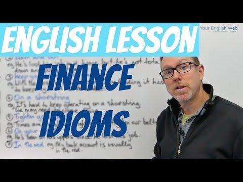 Bài học tiếng Anh - Thành ngữ tài chính - (về việc nghèo)