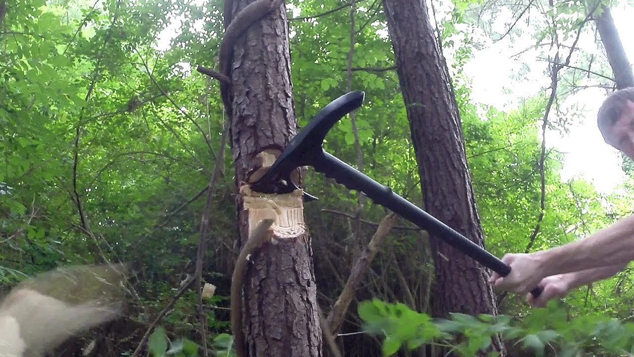 M48 Kommando Survival Axe Tactical Hiking Staff Youtube
