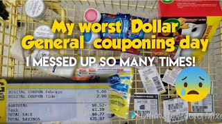 My Worst $5/$25 couponing at Dollar General +My ride left me.