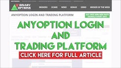 Anyoption Login And Trading Platform