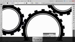 Урок Illustrator. Как нарисовать шестеренки(Разного диаметра и с одинаковым размером зубчиков., 2011-02-07T19:33:00.000Z)