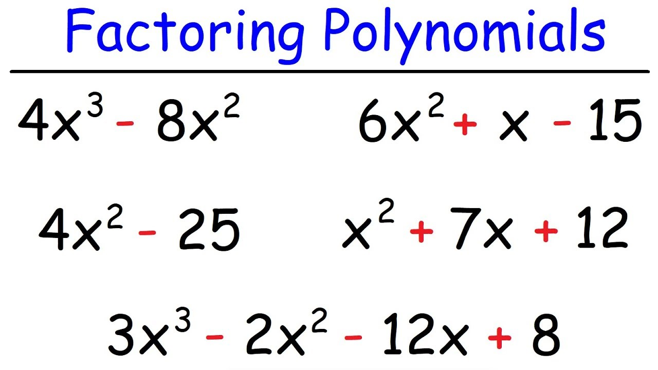 Download How To Factor Polynomials The Easy Way!