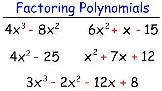 How To Factor P๐lynomials The Easy Way!