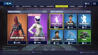 FORTNITE SHOP 24 JENNAIO - RED CAVALIERE, WHITE ACCECANTE, STELLAR POWER AND MORE