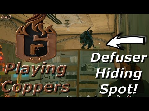Defuser Hiding Spot! Road To Copper - Rainbow Six Siege Funny Moments