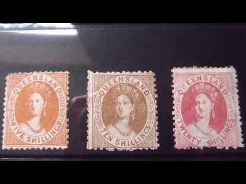 queensland victoria stamps